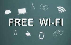 Free wifi sign.