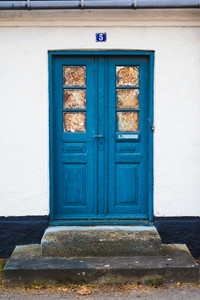 Front door of an House in Roskylde, Denmark