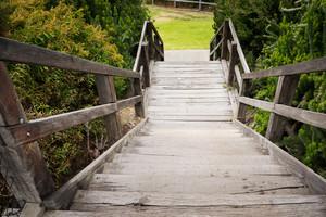 garden wooden stair