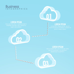 Glossy Business Infographic template with creative 3D clouds for your professional reports presentation.