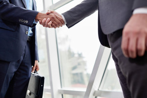 Hands of businessmen during handshake