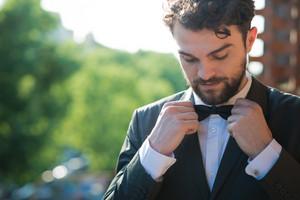 handsome hipster modern elegant man at home