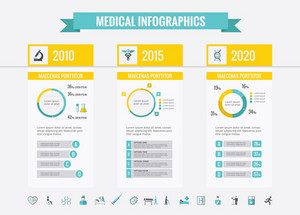 Healthcare Infographic Template. Vector Customizable Elements.