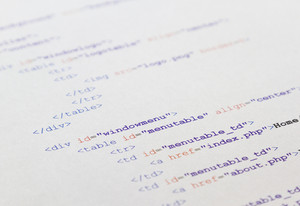HTML code for a web page