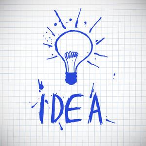 Idea concept - hand drawn vector illustration