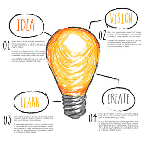 Idea concept with creative light bulb design, can be used as business infographics, workflow layout and professional presentation.