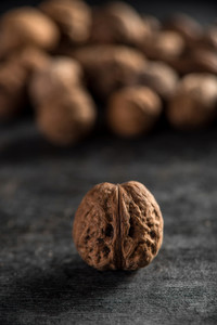 Image of a walnuts over dark background
