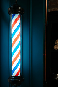 Image of barber shop symbol lamp