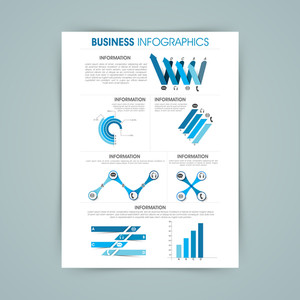 Infographic template with various elements for your business reports and data presentation.