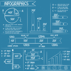 Infographics chalk doodle business statistics