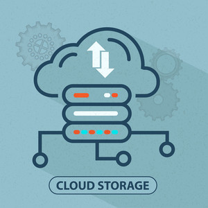 Infographics Flat Design of Cloud Computing Cloud Drives Network
