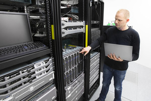 It consultant monitors blade servers in datacenter