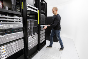 It professional install rack server in datacenter