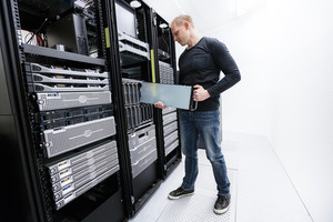 It professional working in datacenter