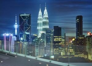 Kuala Lumpur city, beautiful view from roof