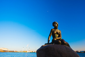 Little Marmaid Statue in Copenhagen