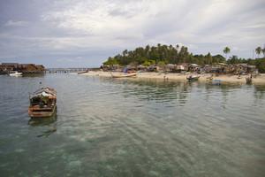Local village near the resort at Mabul Island.