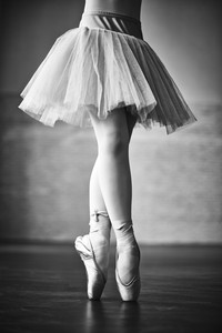 Lower part of dancing ballerina