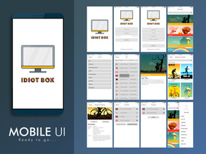 Material Design UI, UX, GUI Screen for online tv or movies mobile apps, responsive websites with Sign In, Sign Up, Menu, Live Tv, Request Movie, Transfer and Sign Out feature.