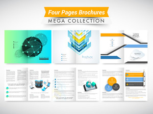 Mega collection of abstract brochures or flyers design for your business or corporate sector.