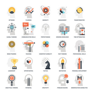 Modern flat vector illustration of personal skills icon design concept. Icon for mobile and web graphics. Flat symbol