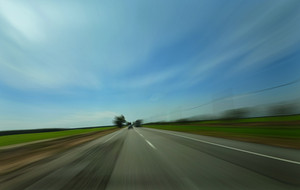 Motion blurred highway