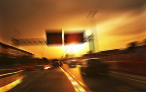 moving forward motion blur background,eveningscene