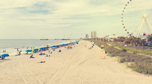 Myrtle Beach South Carolina with a view of the ferris wheel
