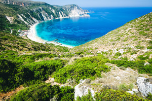 Myrtos Bay and Beach on Kefalonia Island, Greece