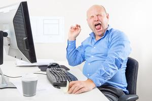 Office worker screaming