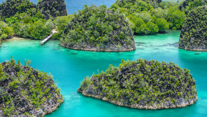 Painemo Island, Blue Lagoon, Raja Ampat, West Papua, Indonesia