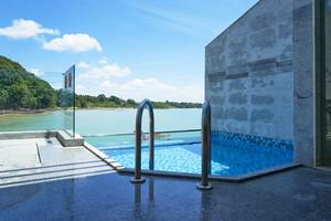 Pool before an open terrace