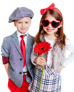 Portrait of cool well-dressed children
