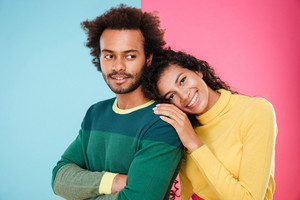 Portrait of happy african american young couple