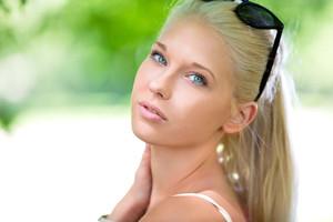 Pretty teenage girl outdoor in summer