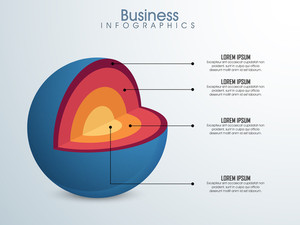 Professional Business Infographic layout with creative element.
