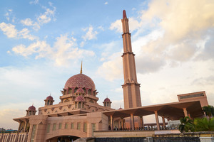 Putra Mosque in Putrajaya - Kuala Lumpur, Malaysia