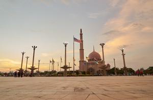 Putra Mosque Putrajaya,Sunset.