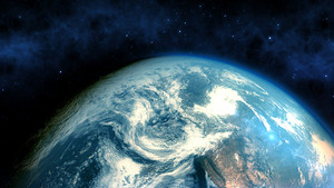 Realistic Earth closeup render