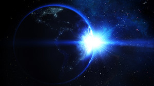 Realistic Earth with Sun