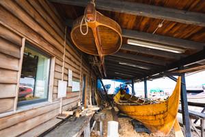 ROSKYLDE, DENMARK - MARCH 20, 2016: Boat Builder in Roskylde, Denmark.