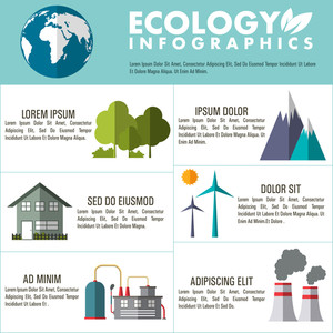 Save ecological infographic layout with ecological elements.