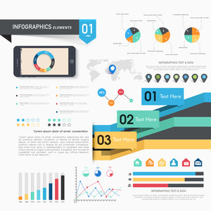 Set of statistical infographic elements for Business concept.