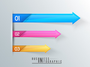 Shiny colorful infographic arrows for Business purpose.