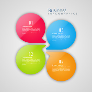 Shiny colorful infographic elements on grey background for your Business.