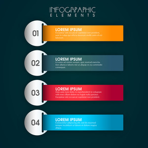 Shiny colorful infographic papers for your Business.