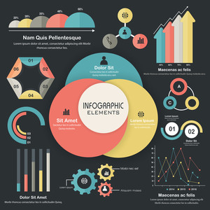 Statistical Infographic elements collection for Business reports and presentation.