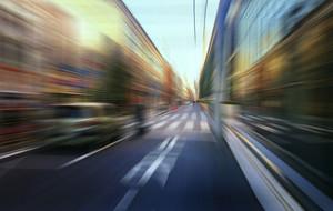 Street motion blur background