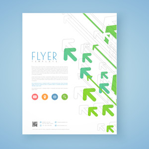 Stylish business flyer, template or brochure design with arrows.