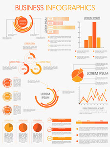 Stylish infographics template layout for business and corporate sector.